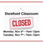 Storefront Classroom Closed